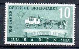 Baden  /  N 51 / 10 Pf Vert /  NEUF Avec Défaut De Gomme - Baden