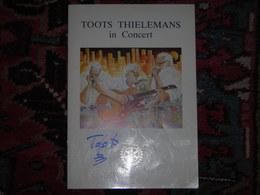 Programme Autographé Par TOOTS THIELEMANS (Yvan Flavion) - Rotary Enghien - Musique & Instruments
