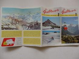 Dépliant Touristique Sur Les Diablerets En Suisse. - Dépliants Touristiques