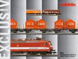 Catalogue Märklin Exclusiv 1995-3 Einmaligen Serien Spur HO - German