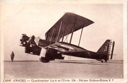AVION - Aviateur - Camp D'Avord - Quadrimoteur Lioré Et Olivier 206 - Moteur Gnome Rhône K 7 - 1939-1945: 2ème Guerre