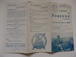 Dépliant Touristique Sur Le Vicomté De Turenne (Corrèze). - Tourism Brochures