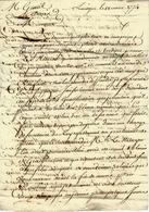 1774 LETTRE DE FINANCE Par Ardant à Limoges Pour Mr Gentil Chez Mr Roux Secretaire Du Roy Avocat Au Conseil Paris - Manuscripts