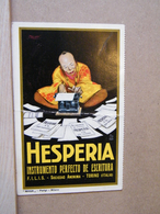 MONDOSORPRESA, HESPERIA, MACCHINE DA SCRIVERE, TORINO NON VIAGGIATA STIMA 1920 - PIEGATA - Advertising