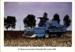 91 - SAINT-ESCOBILLE - Moisson - Moissonneuse - Agriculture - 1988 - France
