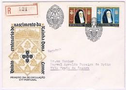 Portugal, 1958, # 843/4, FDC 5º Centenário Do Nascimento Da Rainha Dona Leonor - FDC