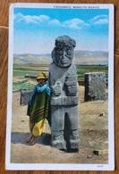 PERU' TIAHUANACO  MONOLITO INCAICO CARD TO GENOVA ITALY  THE 12/8/30 - Paraguay