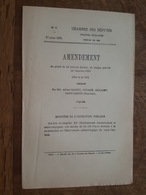 1882 - Amendement Au Projet De Loi - Mont Ventoux - Construction Observatoire (Astronomiques Et Météorologiques) - Décrets & Lois
