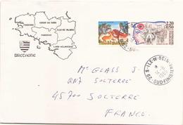 Enveloppe Du 14 Juin 1989 De Ile-de-Sein Pour Solterre ( Timbre Français Et Grec ) - Covers & Documents