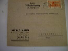 SAAR 1935  Cover Lettre  -de  ALGRED KUHN - 1920-35 Société Des Nations