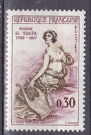 N°1269 Madame De Saël Précurseur De L'idée Européenne : Timbre Neuf Sans Charnière - France