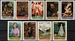 Bolivia 1972 ** CEFIBOL 931-39. Pintura De Maestros Bolivianos En Colores Originales. - Bolivia