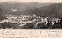 MARIENBAD-BLICK VOM AUSSICHTSTHURM 1903 NON VIAGGIATA - Sudeten