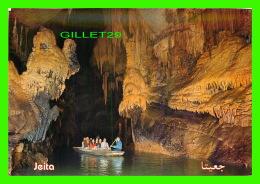 JEITA, LIBAN - GROTTE DE JEITA, GALERIE INFÉRIEURE - TELKO SPORT - ANIMÉE D'UNE CHALOUPE - - Liban
