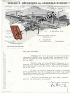 54 - Meurthe-et-moselle - JEANDELAINCOURT - Facture TUILERIE DE JEANDELAINCOURT - 1940 - REF 93 - 1900 – 1949