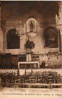 Monaco. Collège Seraphique De Monte Carlo. Intérieur De L'église - Monte-Carlo
