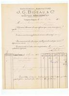 CAOUTCHOUC MANUFACTURE J . G . BIDEAU & Cie  ANCe  SOCIETE BARBIER DAUBREE & Cie à CLERMONT FERRAND 1883 - 1800 – 1899