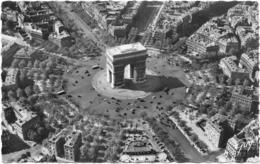 PARIS........ARC DE TRIOMPHE......VUE D AVION... PILOTE R. HENRARD.... - Arc De Triomphe
