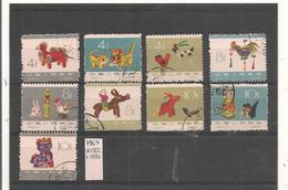 Chine - 1963 -  9  Stamps   -  Philatelie° JP - Oblitérés