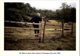 15 - FONTANGES - Mise En Place D'une Clôture - 1986 - France