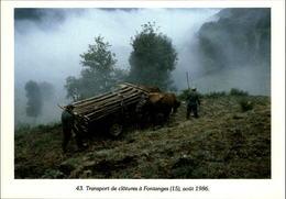 15 - FONTANGES - Transport De Clôtures - 1986 - France