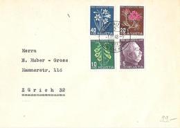 Schweiz Suisse 1948: Pro Juventute Zu 125-128 Mi 514-517  Brief C6 Mit Orts-Ersttag-o NEUHAUSEN 1.XII.48 (Zu CHF 160.00) - FDC