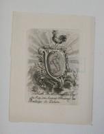 Ex-libris Armorié Français XVIIIème - M. Thouvenin, Cons. Du Roy, Son Avocat Procureur Au Baillage De Lixheim - Ex Libris