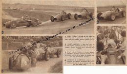 AUTOMOBILE : PHOTO, GRAND PRIX A.C.F., REIMS, HAWTHORN, ASCARI, GONZALES, FERRARI, MASERATI, COUPURE REVUE (1953) - Car Racing - F1