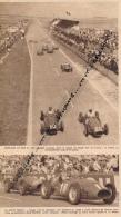 AUTOMOBILE : PHOTO, GRAND PRIX A.C.F., REIMS, HAWTHORN, FANGIO, GONZALES, FERRARI, MASERATI, COUPURE REVUE (1953) - Car Racing - F1