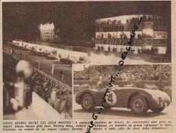 AUTOMOBILE : PHOTO, 12 HEURES DE REIMS, STIRLING MOSS, WHITEHEAD, JAGUAR, COUPURE REVUE (1953) - Car Racing - F1