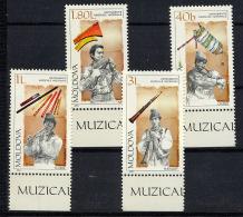 MOLDAVIE MOLDOVA 2001, INSTRUMENTS DE MUSIQUE, 4 Valeurs, Neufs / Mint. R1432 - Moldavie