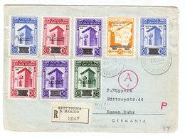 San Marino REGISTERED CENSORED COVER TO Germany 1943 - San Marino