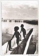 CPSM ZAMBEZE - Au Coucher Du Soleil à SENANGA - Enfants Dans Une Pirogue - Zambie