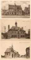 Herzele : Gemeentehuis  , S. Rokuskapel En Omgeving  --- 3 Kaarten - Herzele