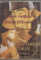 Catálogo De Las Viñetas Benéficas De Frentes Y Hospitales. Por Manuel Hoyos. - Verschlussmarken Bürgerkrieg