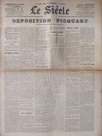 Le Siècle (19 Août 1899) Procès De Rennes - Dreyfus - Déposition Picquart - Avec Le Supplément - 1850 - 1899
