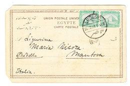 Egypt LUQSOR POSTCARD TO Italy 1909 - Egypt