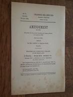 1884 - Amendement Au Projet De Loi - Ministère Beaux Arts, Rectifié, Réparation Et Entretien Des Bassins Parc Versailles - Decrees & Laws