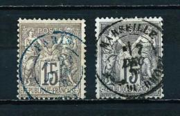 Francia  Nº Yvert  66 (tipo-I) - 77 (tipo-II)  USADO - Francia