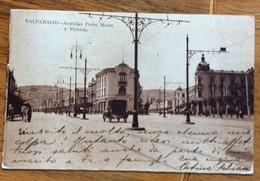VALPARAISO  AVENIDAS PEDRO MONTT Y VITTORIA FOR VIA DI MARE  TO FORMIGINE MODENA 1/6/1919 - Cile