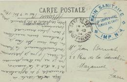 CPA En FM. - Cachet Du Train Sanitaire * IMP. N°4* Du 16è Corps D'Armé (?) + T. à D. Gare De PAU. - Guerre De 1914-18