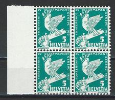 SBK 185, Mi 250 Viererblock ** - Svizzera