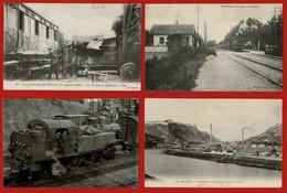 20 CP FRANCE Dont Trains Catastrophe De BERNAY+Gare De GIRONVILLE+Cheminots Ds Loco En Marche+ Diverses Autres CP.N° 46 - Cartes Postales
