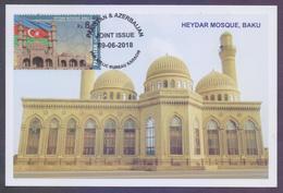 PAKISTAN 2018 - HEYDAR Mosque Baku, Joint Issue With Azerbaijan, MAXIMUM CARD - Pakistan