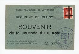 CLUNY -- Sur Carte 1.20 Francs - Libération