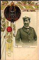 CPA Wilhelm II. Deutscher Kaiser EMBOSSED GERMAN ROYALTY (701487) - Familles Royales