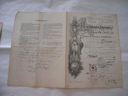 REGIO ESERCITO ITALIANO FOGLIO DI CONGEDO 23°REGG.FANTERIA VERONA LEGNAGO 1892 - Documents Historiques