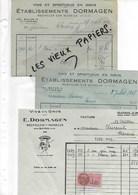 54 - Meurthe-et-moselle - NEUVILLER-SUR-MOSELLE - Facture DORMAGEN - Vins Et Spiritueux En Gros - 1948 - REF 93 - 1900 – 1949