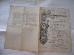 REGIO ESERCITO ITALIANO FOGLIO DI CONGEDO ILLIMITATO VERONA LEGNAGO 1893 - Documents Historiques