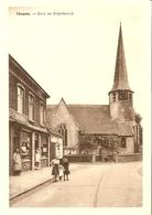 Idegem ( Geraardsbergen ) : Kerk En Standbeeld  (met Winkel ) - Geraardsbergen